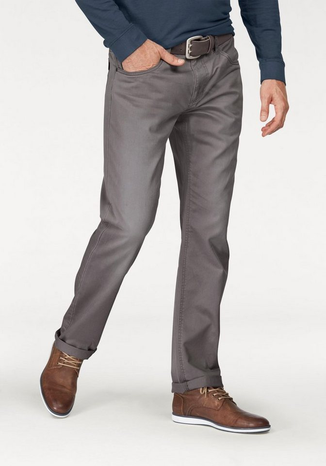 Arizona 5-Pocket-Hose »Willis« Straight Fit in grau-used