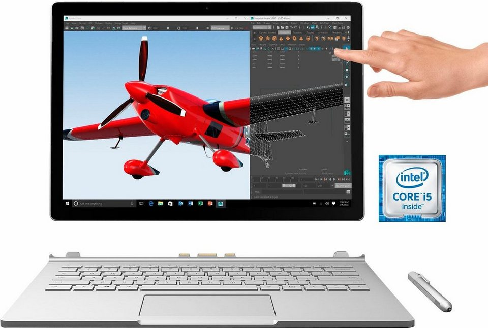 Microsoft Surface Book (SX3-00010) Convertible Notebook, Intel® Core™ i5, 34,3 cm (13,5 Zoll) in silberfarben