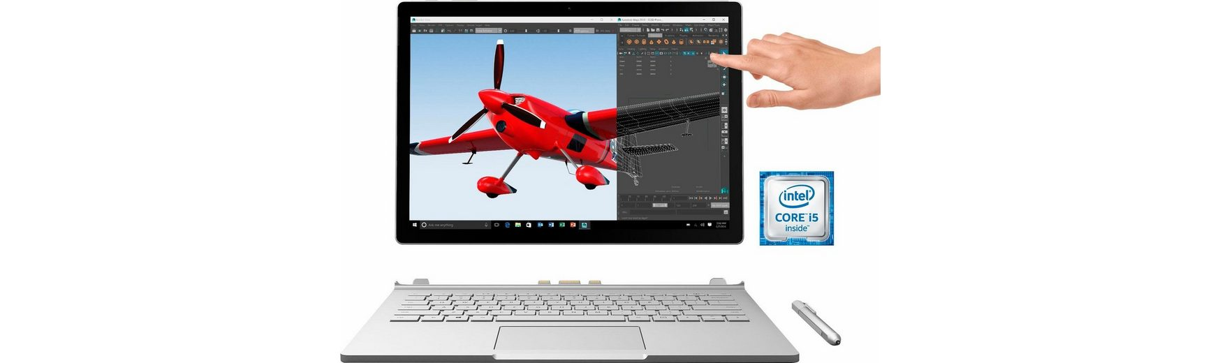 Microsoft Surface Book (CR9-00010) Convertible Notebook, Intel® Core™ i5, 34,3 cm (13,5 Zoll)