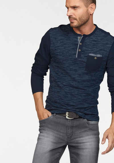 sneakers for cheap edadd 4e86d Langarmshirt mit Knopfleiste für Herren online kaufen | OTTO