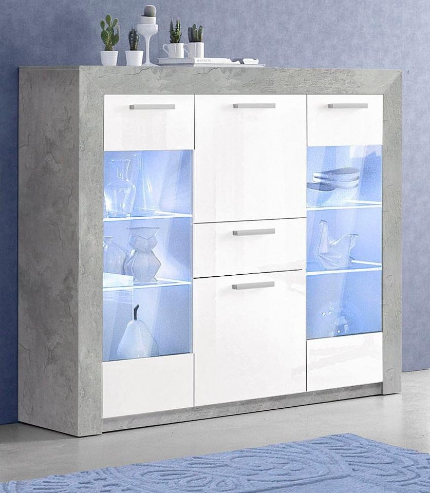highboard breite 154 cm online kaufen otto. Black Bedroom Furniture Sets. Home Design Ideas