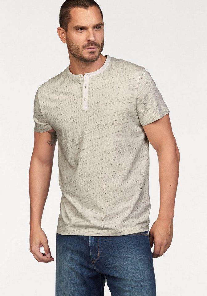Wrangler T-Shirt mit Serafino-Ausschnitt in offwhite