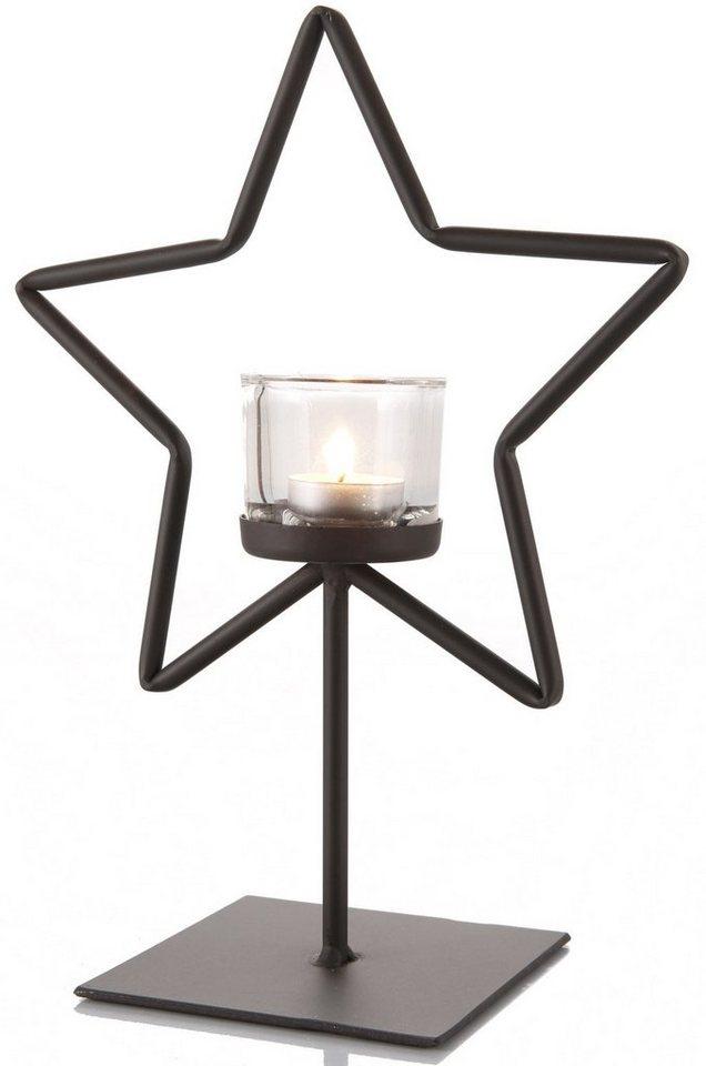 WMG Windlicht, »Stern« in dunkelbraun