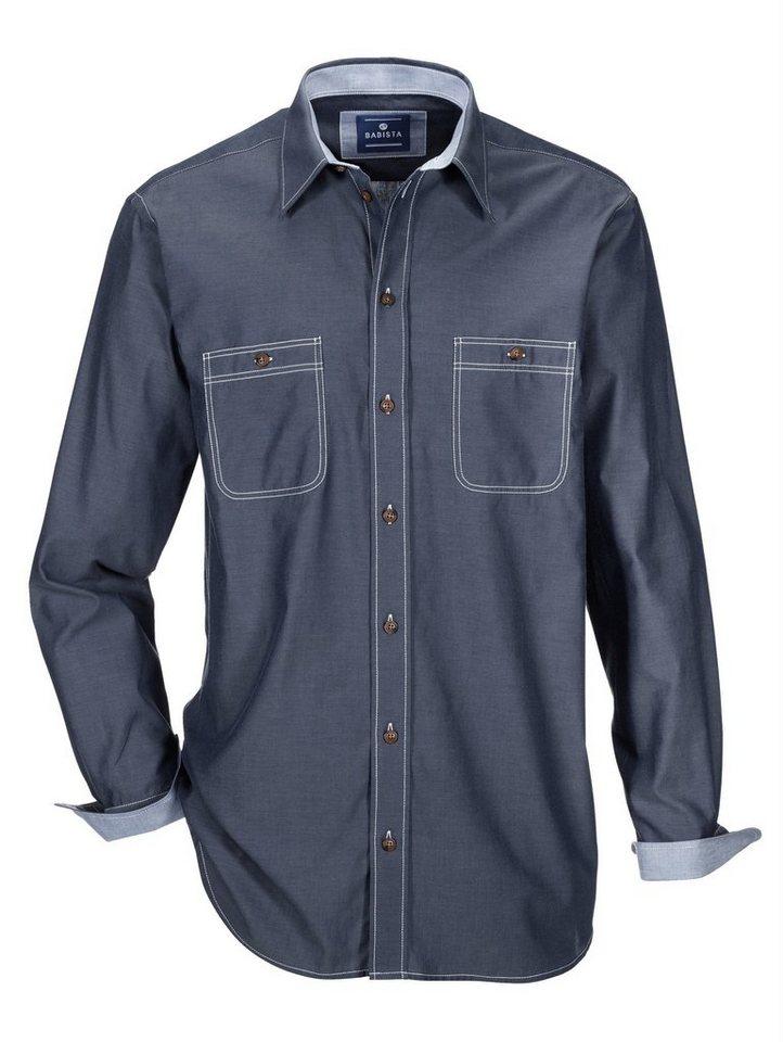 Babista Jeans-Hemd mit zwei Brusttaschen in blau