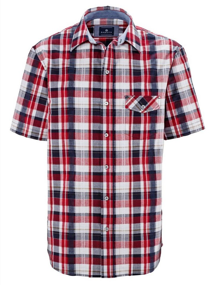 Babista Hemd in weiß-rot