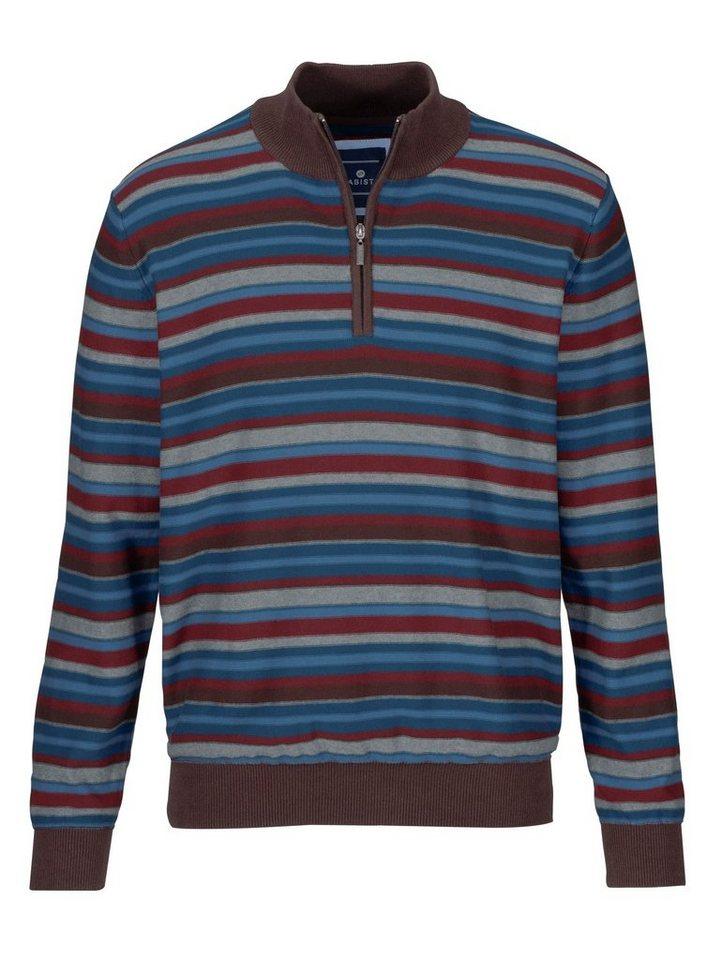 Babista Pullover in braun-blau-rot