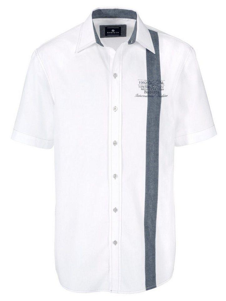 Babista Hemd mit modischem Druck in weiß-blau