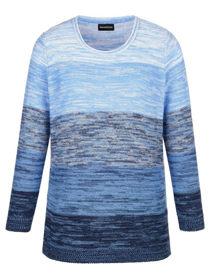 MIAMODA Pullover mit Farbverlauf in marine/blau