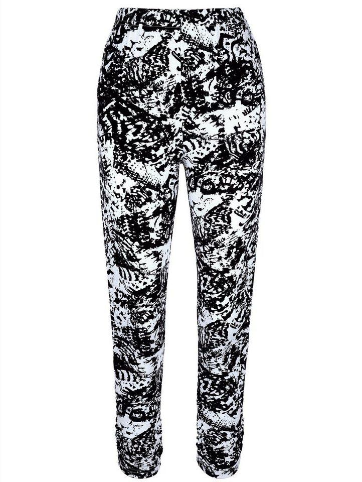 MIAMODA 7/8 Leggings in schwarz/weiß bedruckt