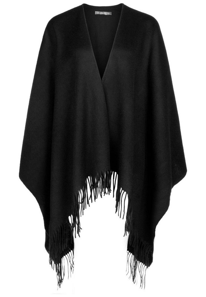 Blaumax Wollponcho »PERU« in black