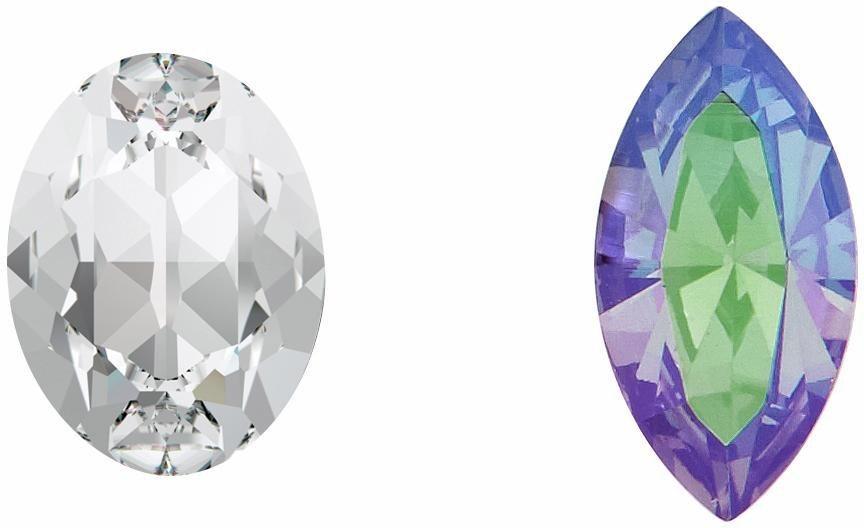 Lolaandgrace Paar Ohrstecker »GLAM STUDS, 5251735« mit Swarovski® Kristallen in silberfarben-mehrfarbig