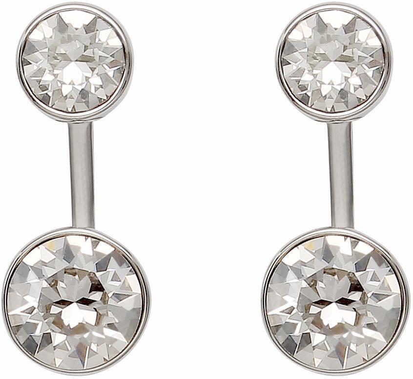 Lolaandgrace Paar Ohrstecker »STONE EAR JACKETS, 5217054« mit Swarovski® Kristallen in silberfarben