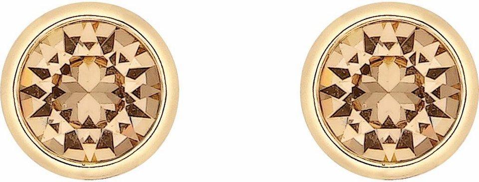 Lolaandgrace Paar Ohrstecker »STONE STUDS, 5224320« mit Swarovski® Kristallen in goldfarben-champagner