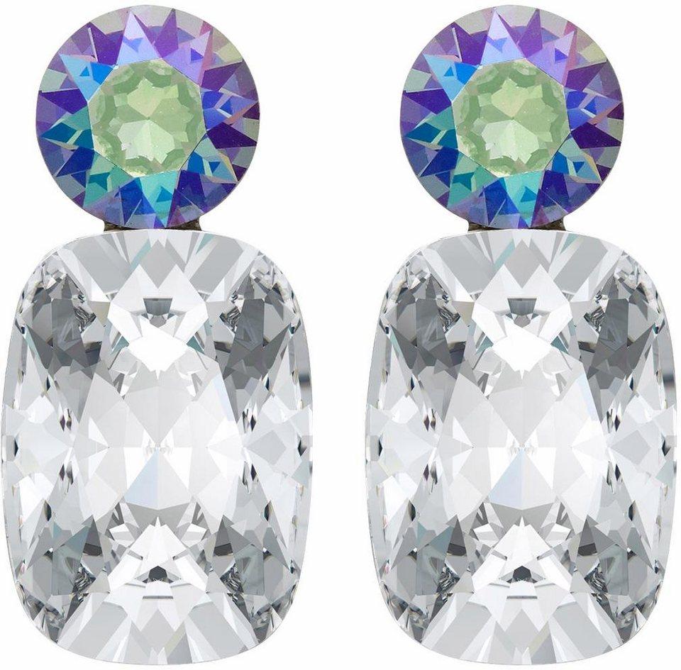 Lolaandgrace Paar Ohrstecker »GLAM DROPS, 5251734« mit Swarovski® Kristallen in silberfarben-mehrfarbig