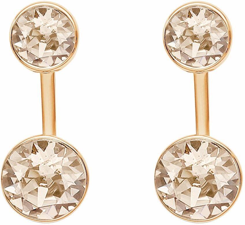Lolaandgrace Paar Ohrstecker »STONE EAR JACKETS, 5217055« mit Swarovski® Kristallen in roségoldfarben-rosé