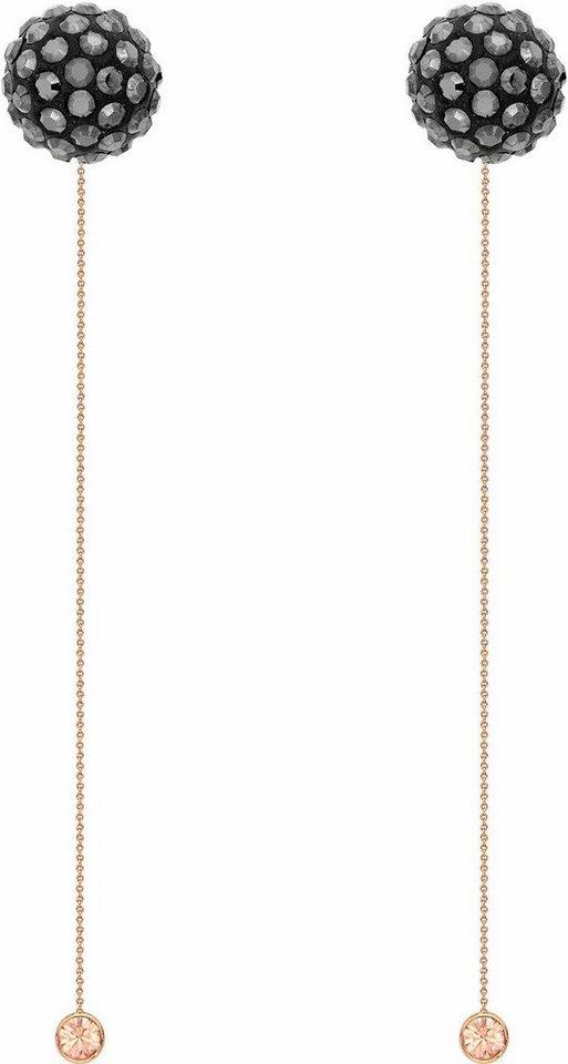 Lolaandgrace Paar Ohrstecker »RIO LONG STUDS, 5251839« mit Swarovski® Kristallen in roségoldfarben-schwarz