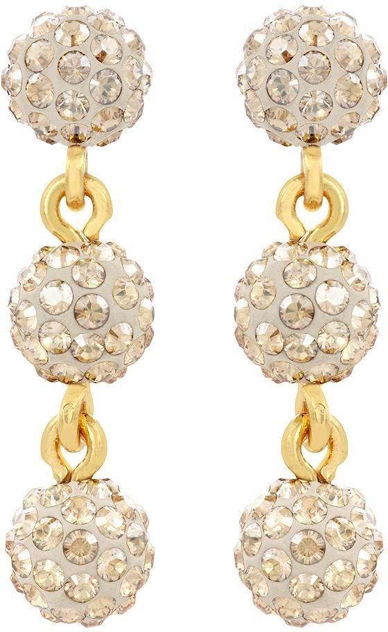 Lolaandgrace Paar Ohrstecker »RIO TRIO EARRINGS, 5182993« mit Swarovski® Kristallen in goldfarben-champagner
