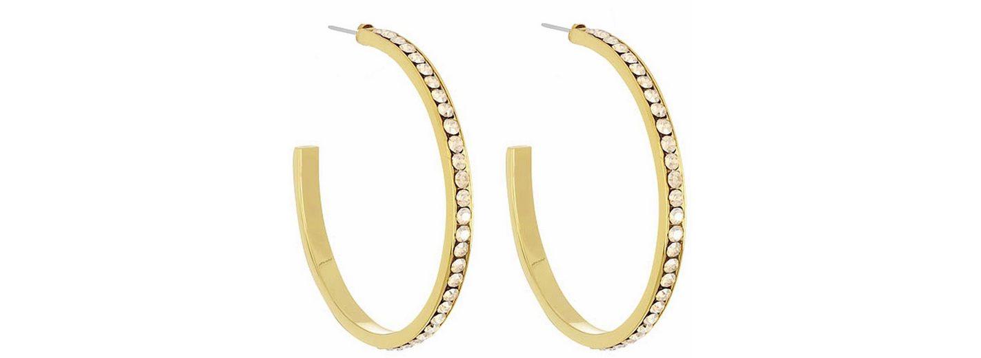 Lolaandgrace Paar Creolen »CIRCLE HOOPS, 5028124« mit Swarovski® Kristallen