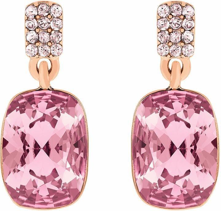 Lolaandgrace Paar Ohrstecker »CHATEAU SQUARE DROPS, 5140867« mit Swarovski® Kristallen in roségoldfarben-pink