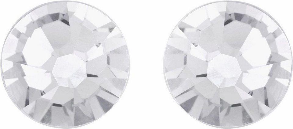Lolaandgrace Paar Ohrstecker »STONE SIMPLE STUDS, 1158308« mit Swarovski® Kristallen in silberfarben