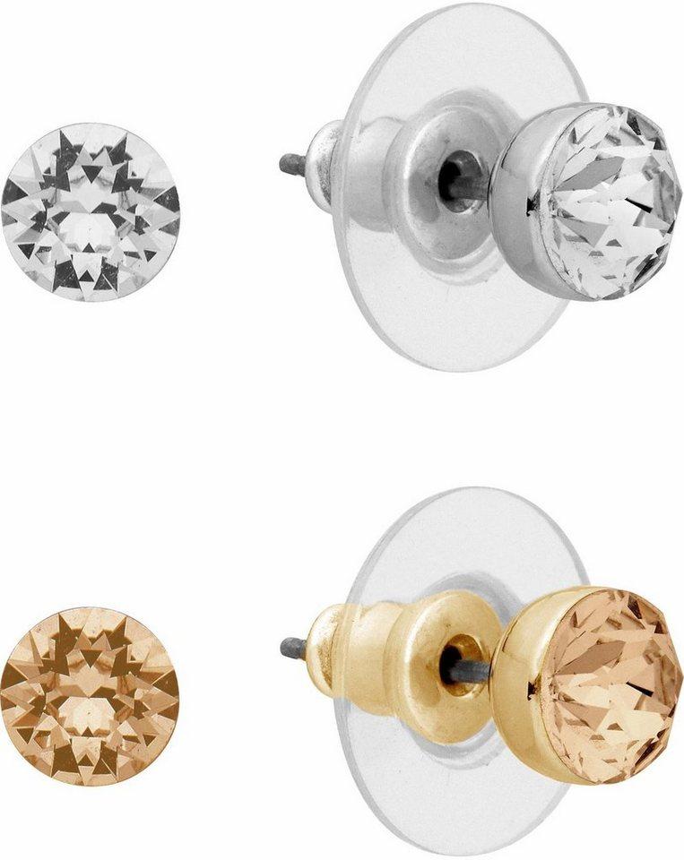 Lolaandgrace Ohrstecker-Set »PALACE STUD SET, 5257175« mit Swarovski® Kristallen (Set, 4 tlg.) in goldfarben-silberfarben-champagner-weiß