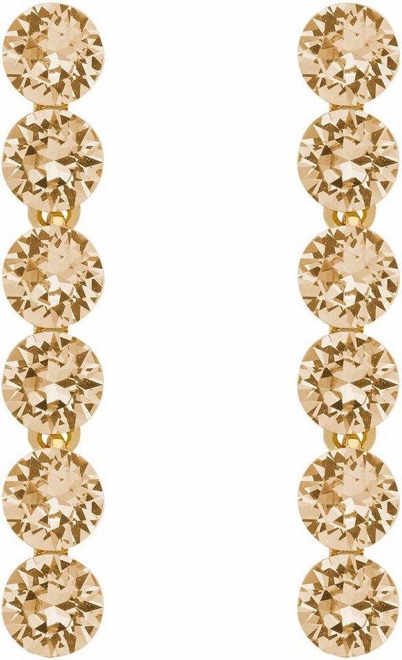 Lolaandgrace Paar Ohrstecker »PALACE EARRINGS, 5251850« mit Swarovski® Kristallen in goldfarben-champagner
