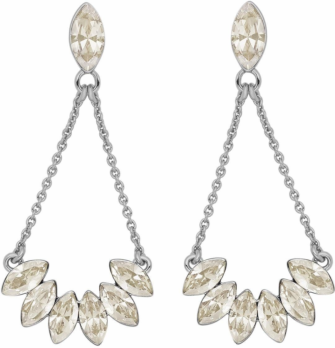Lolaandgrace Paar Ohrstecker »LEAF EARRINGS, 5251744« mit Swarovski® Kristallen