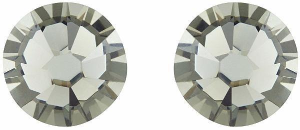 Lolaandgrace Paar Ohrstecker »STONE SIMPLE STUDS, 1158310« mit Swarovski® Kristallen in silberfarben-grau