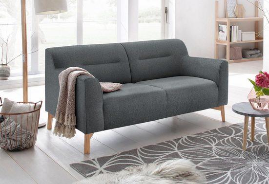 andas 2-Sitzer »Kiruna«, bequemer Sitzkomfort und Holzfüßen