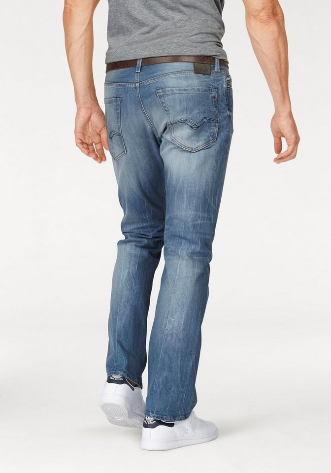 Replay Regular-fit-Jeans »Waitom« in light-blue-used