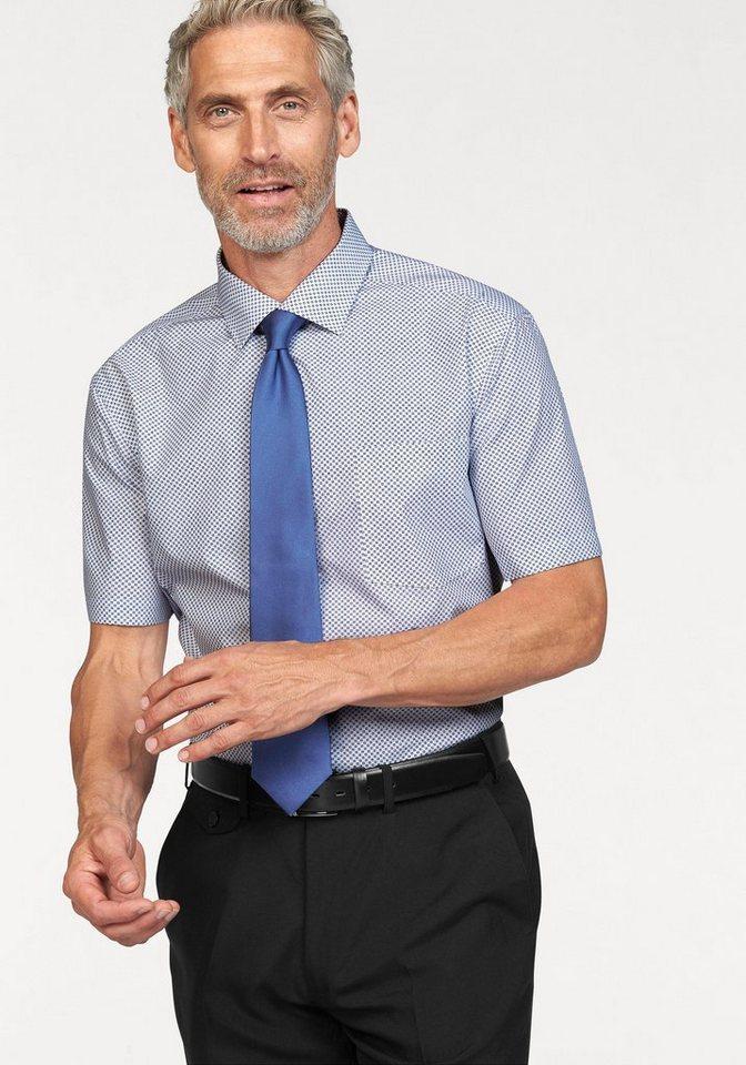 Studio Coletti Businesshemd in blau-weiß-gemustert