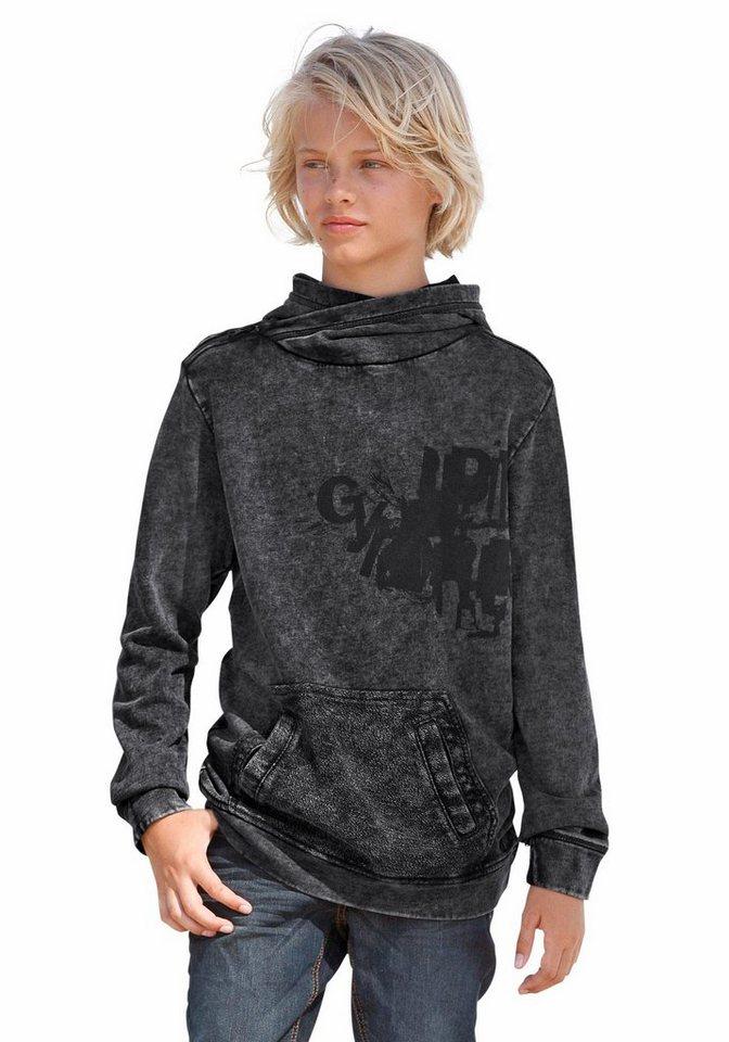 s.Oliver RED LABEL Junior Kapuzensweatshirt Mit Reißverschluss an der Schulter in dark-grey