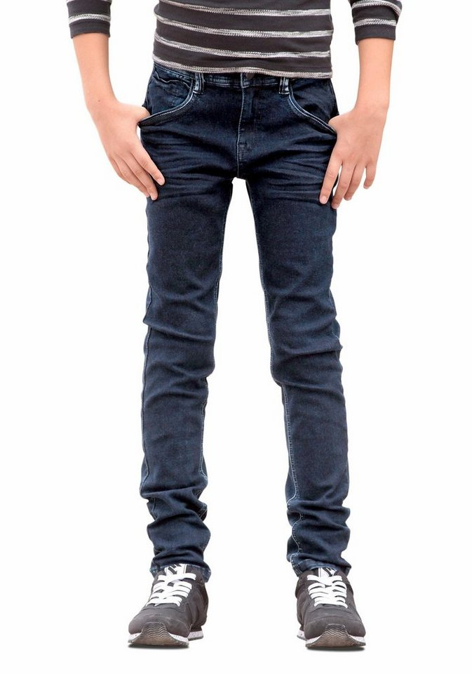 s.Oliver RED LABEL Junior Stretch-Jeans Skinny-Fit Passform in blue-denim
