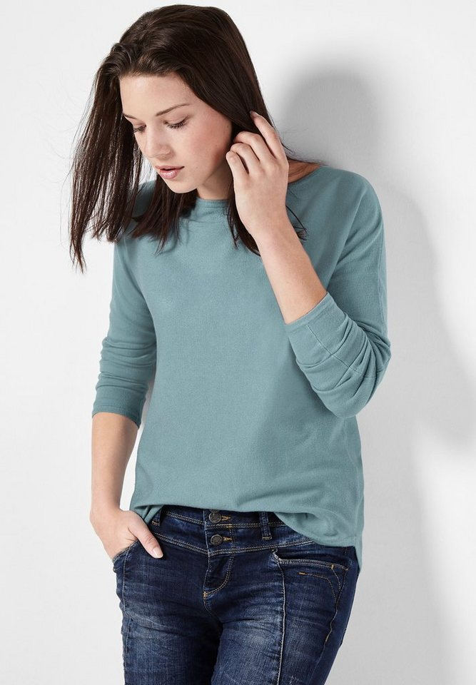 Street One Pullover Amelie in stone jade