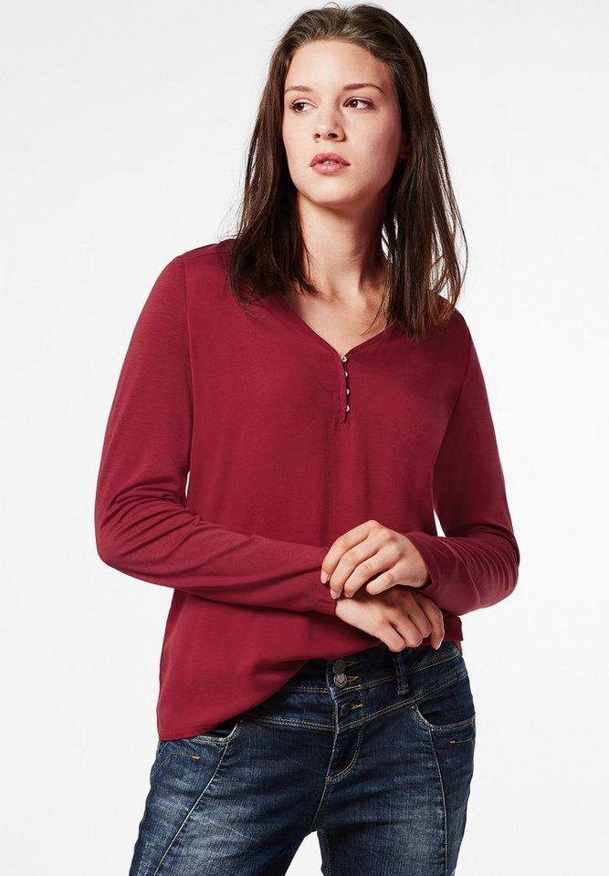 Street One Shirt Haldis in vintage red