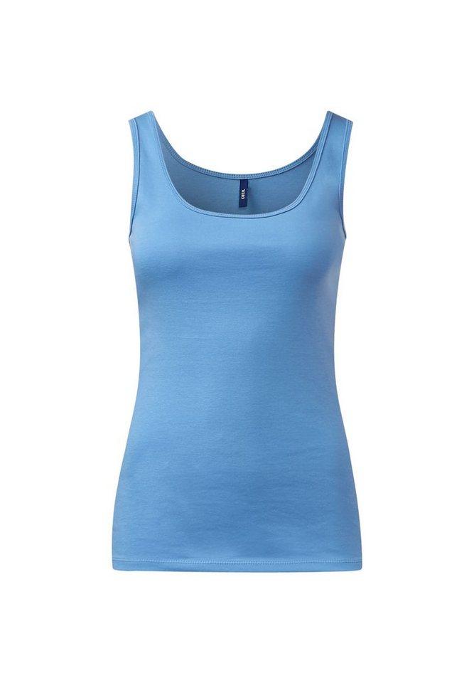 CECIL Basic Tanktop Linda in cornflower blue