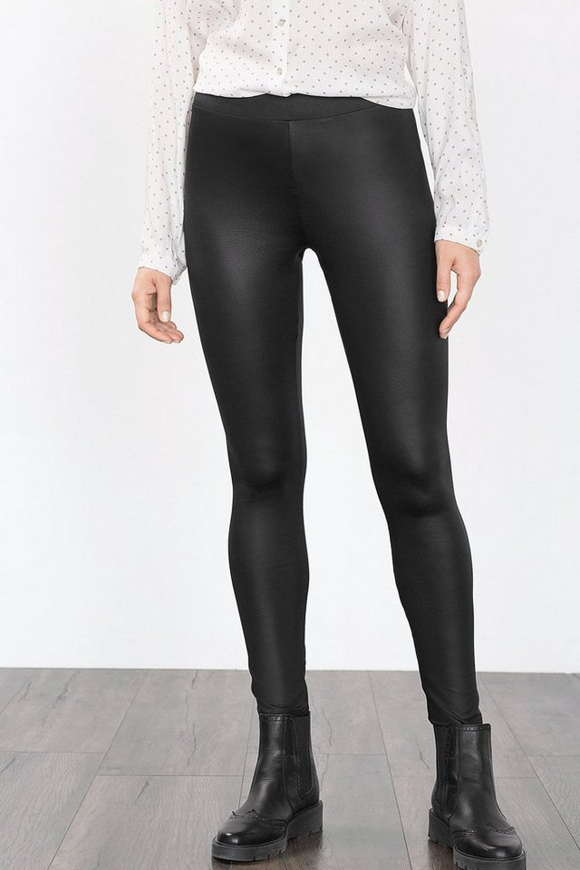 EDC Shiny Stretch-Leggings in BLACK