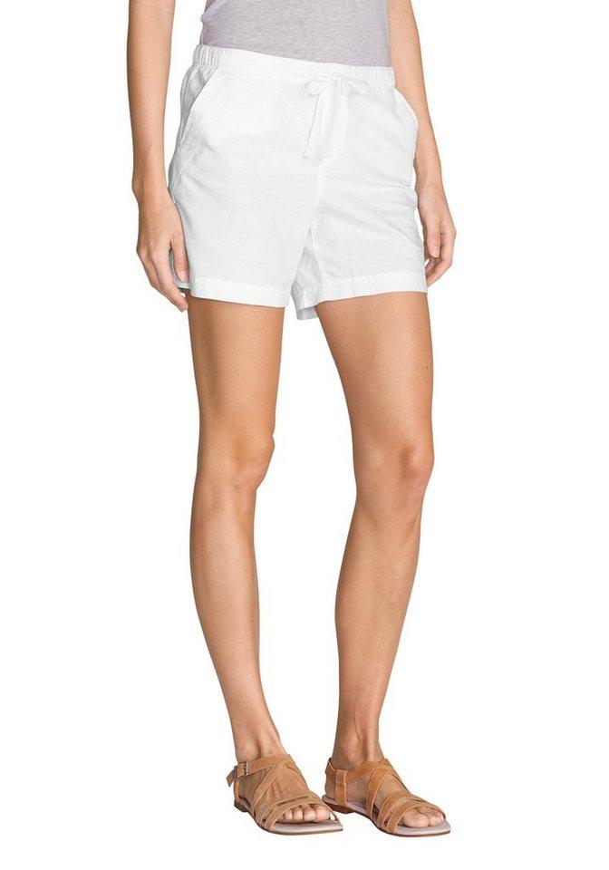 Eddie Bauer Shorts mit Leinen in Weiß