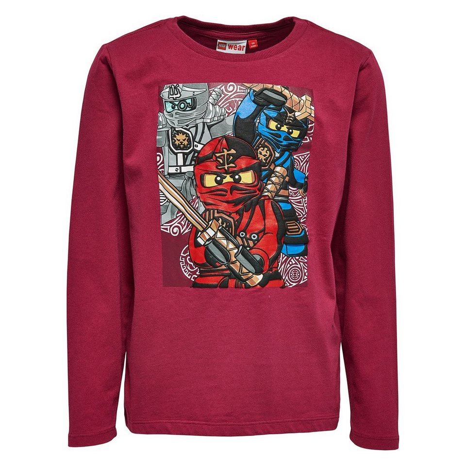 "LEGO Wear Ninjago Langarm-T-Shirt Tony ""Three Fighter"" langarm Shirt in bordeaux"