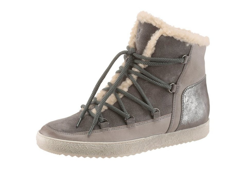 Paul Green Winterboots in grau-taupe