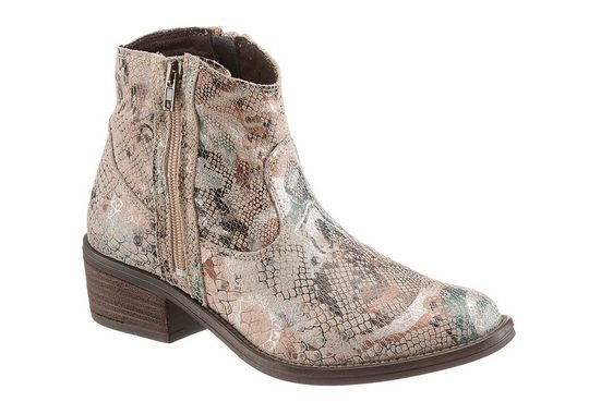 Tamaris Westernstiefelette, in Snake-Optik