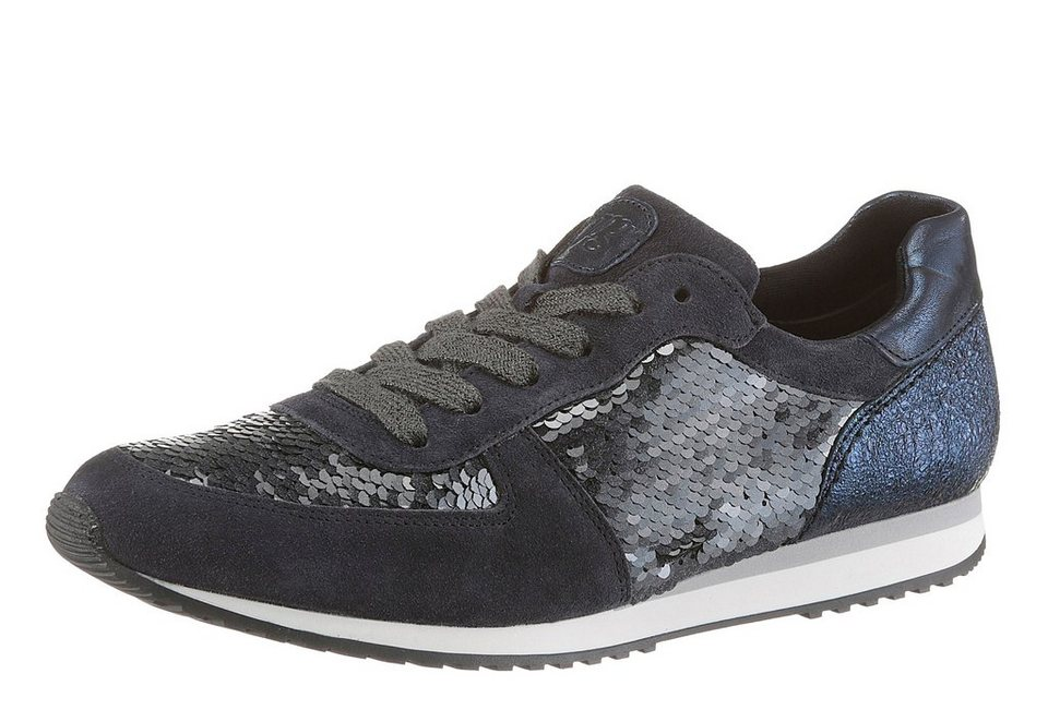 Paul Green Sneaker in schimmernder Optik in blau