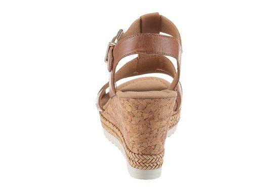 Gabor Sandalette, mit modischem Korkabsatz