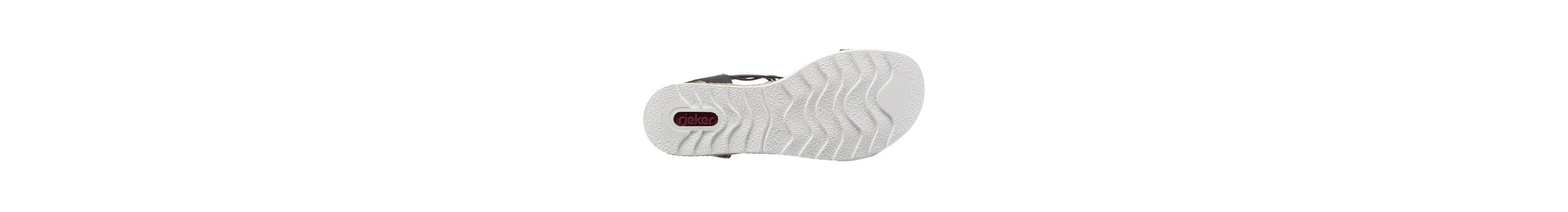 Rieker Riemchensandale, mit trendiger weißer Laufsohle
