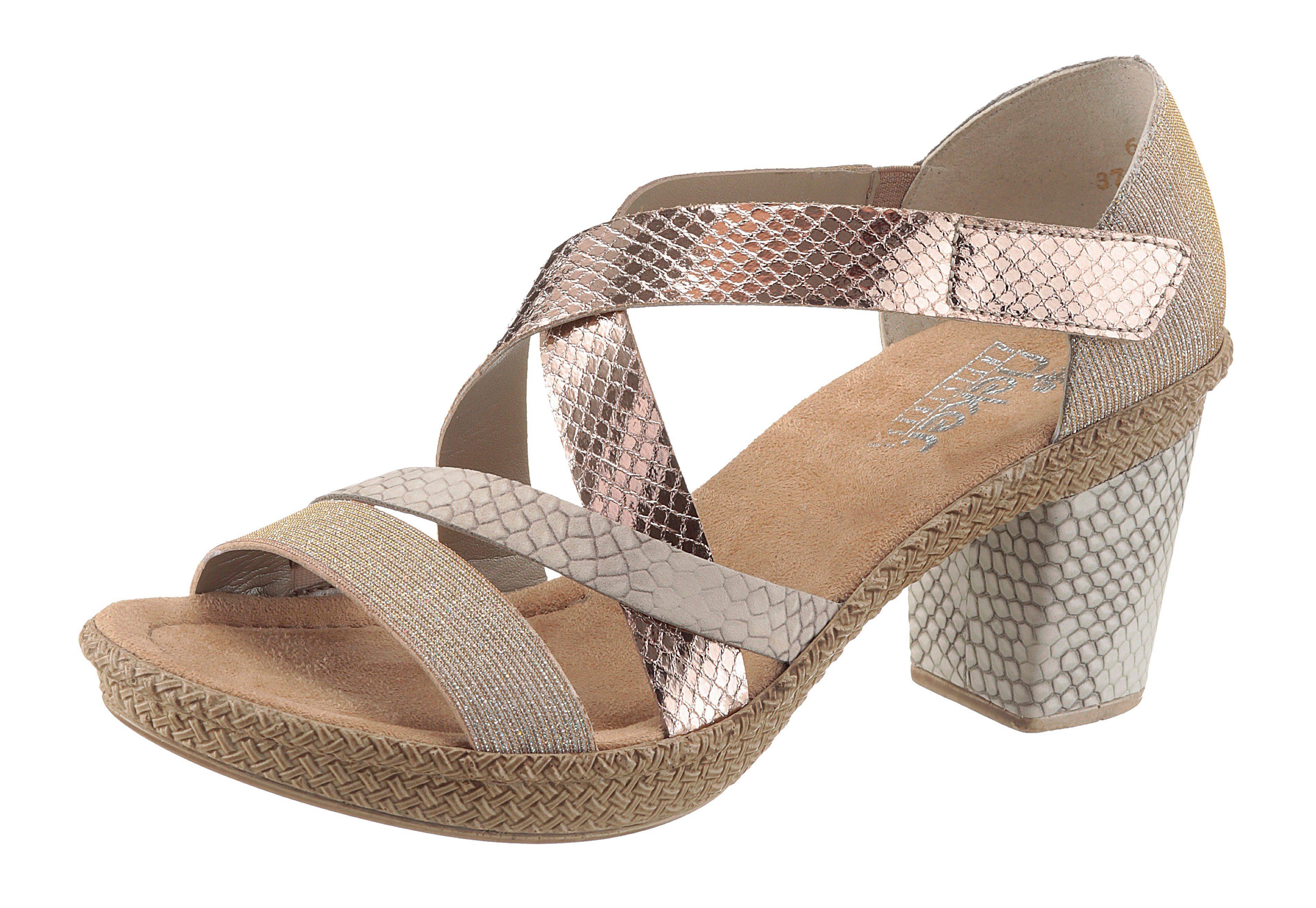 Rieker Sandalette, im Reptil-Look online kaufen  goldfarben-kupfer