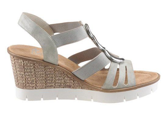 Sandale Rieker, Avec Plateau À La Mode