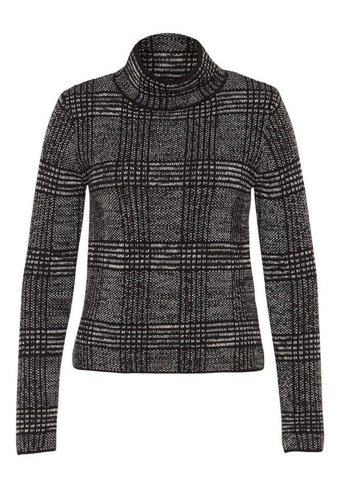 HALLHUBER Jacquard-Pullover in kastiger Form in multicolor