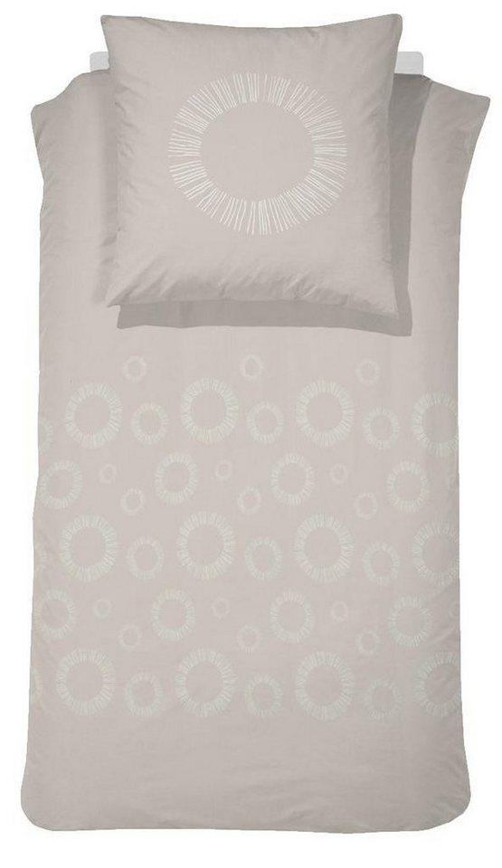 Bettwäsche, Damai, »Sashi«, mit dezentem Muster in beige