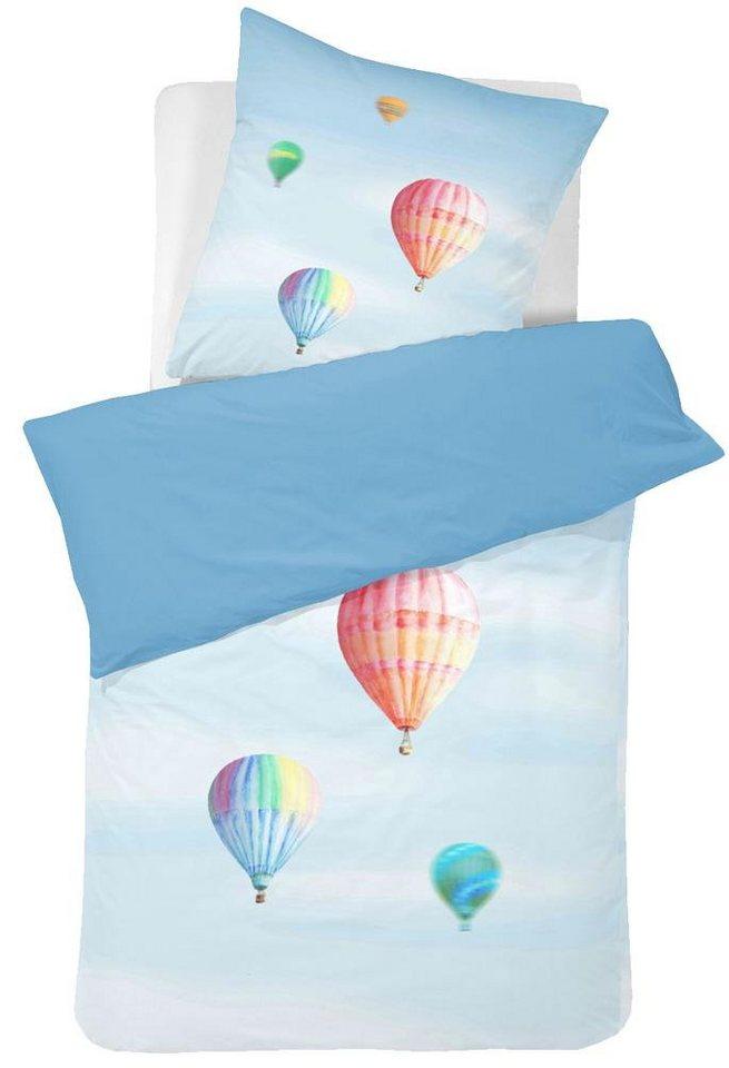 Bettwäsche, Cinderella, »Glide«, mit Heißluftballons in blau