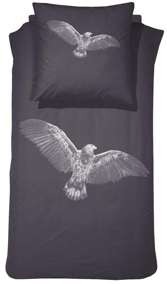 Bettwäsche, Damai, »Eagle«, mit Adler Motiv